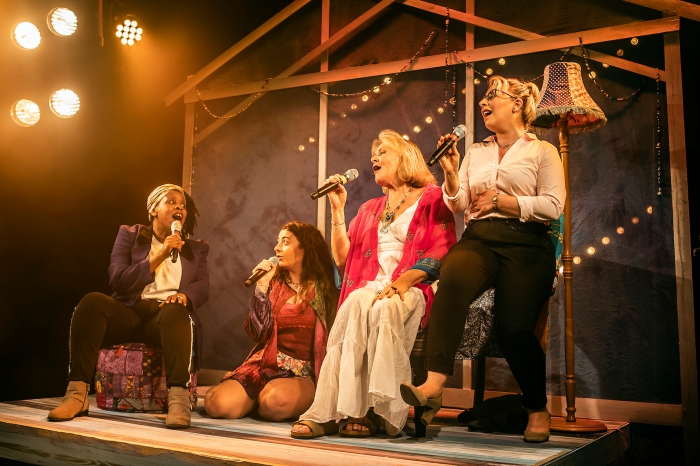 L-R Melanie Marshall (Lou), Kelly Sweeney (Tamara), Janet Fullerlove (Joy) & Jodie Jacobs (Rachel) - Unexpected Joy at Southwark Parkhouse (c) Pamela Raith Photography_015